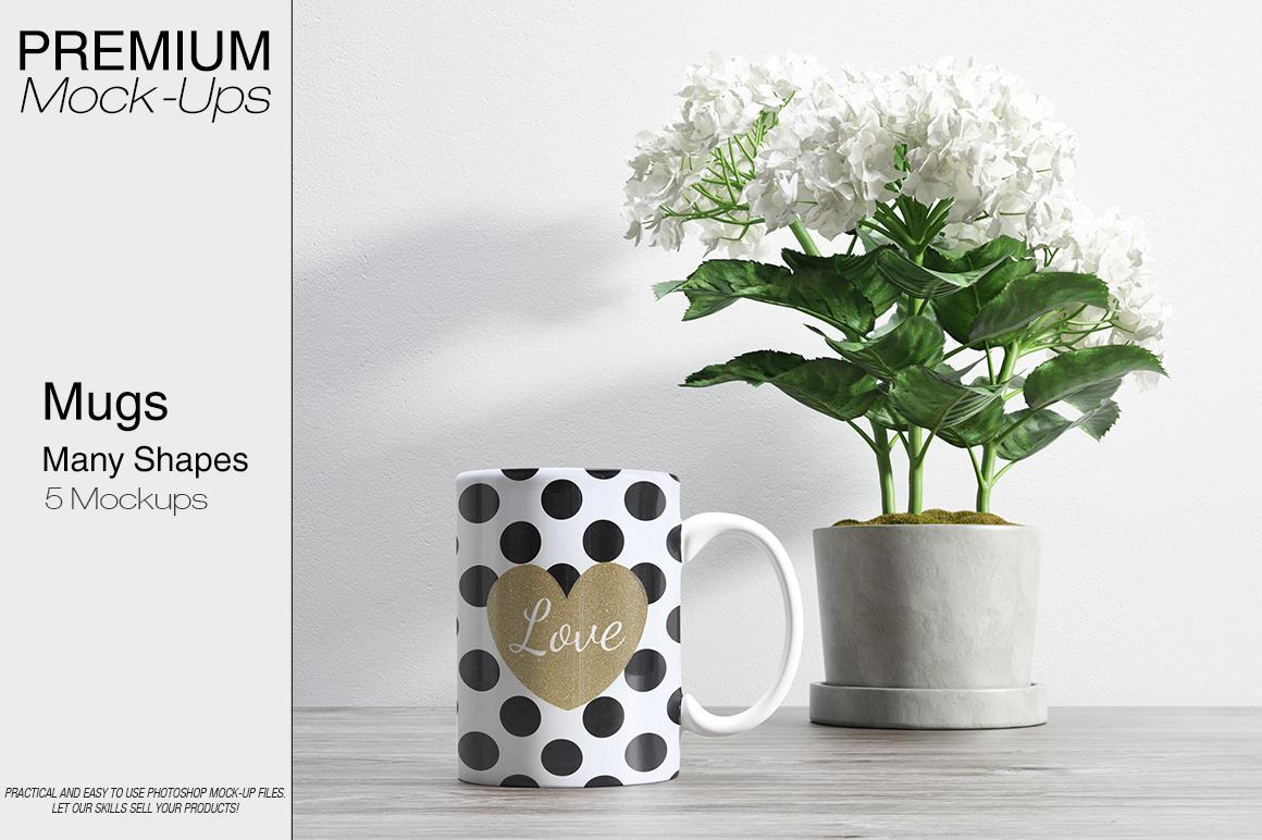 Mug Mockups - Many Shapes example image 1