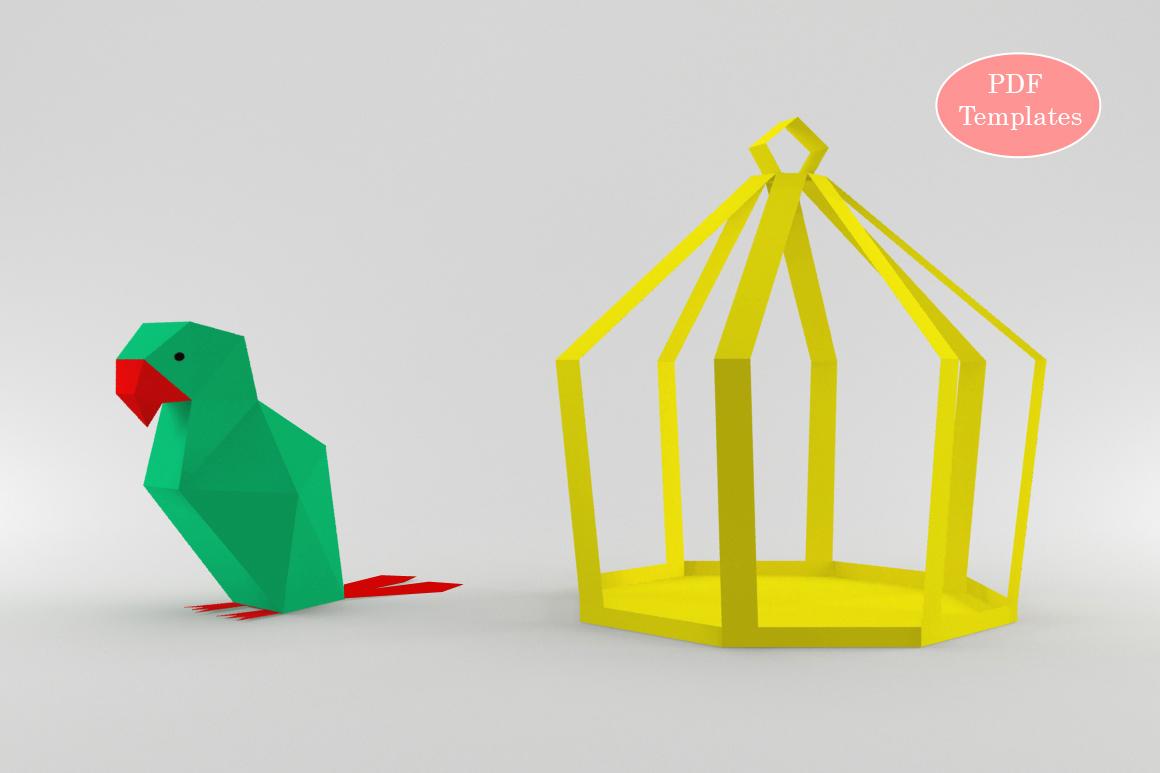 DIY Parrot - 3d papercraft example image 2