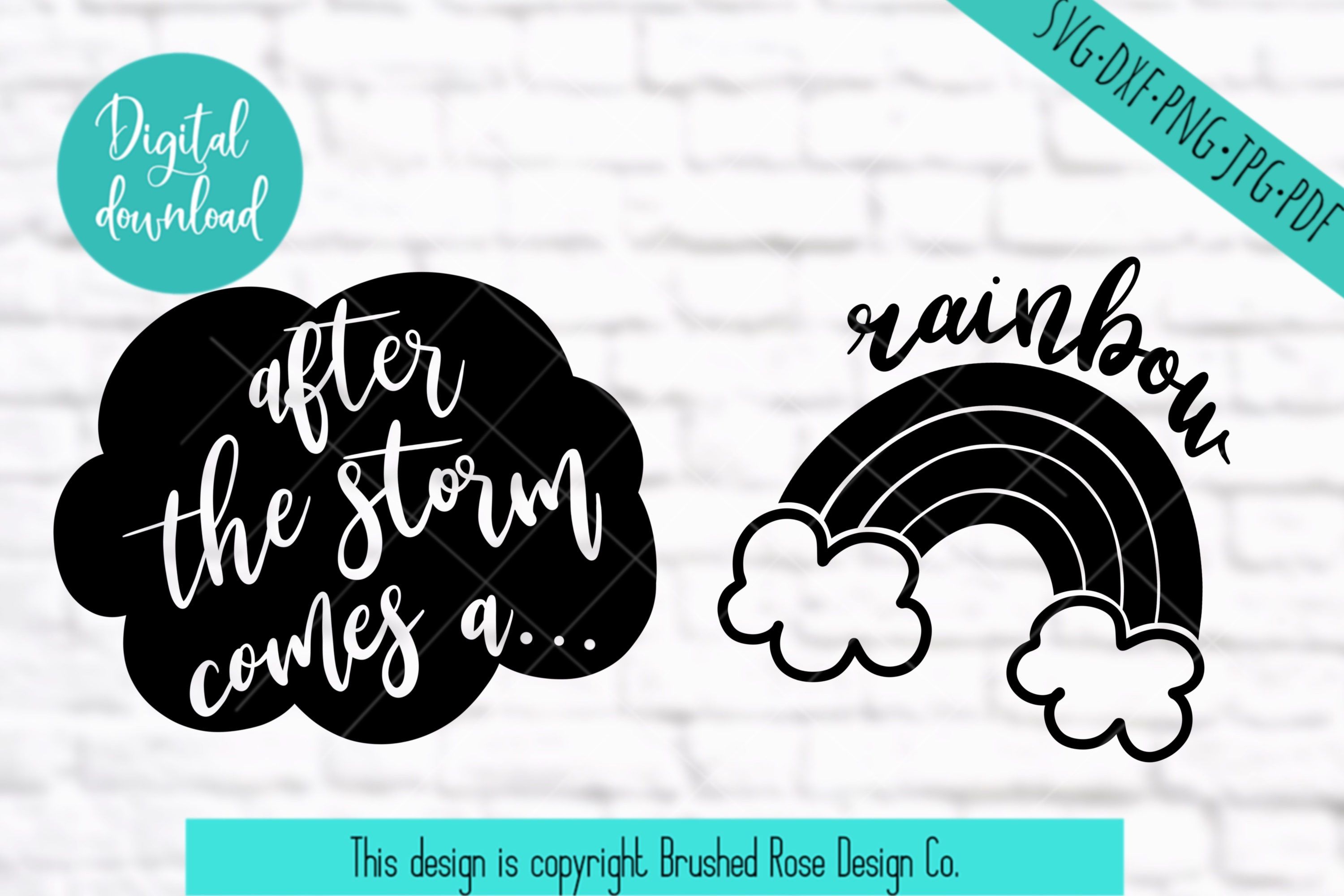 Mommy and me, baby svg,rainbow baby,mom svg, after the storm example image 2