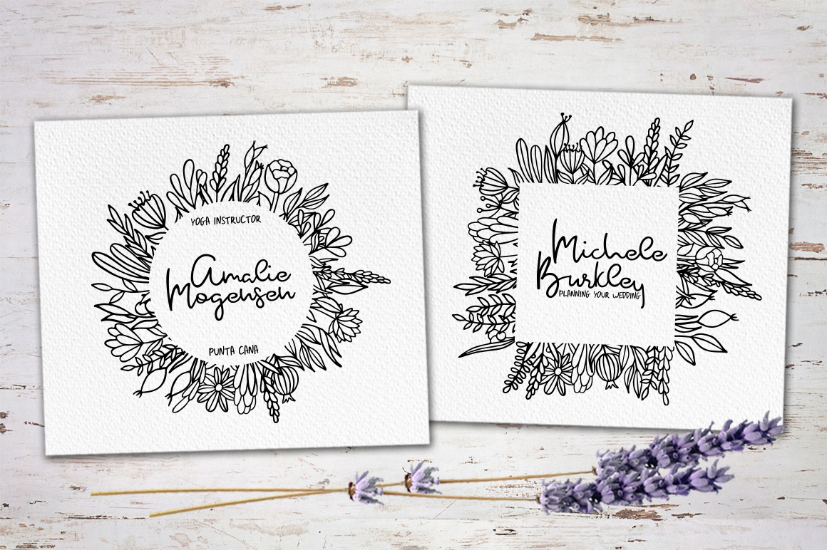 Rosemary & Lavender.Font duo+logos example image 2