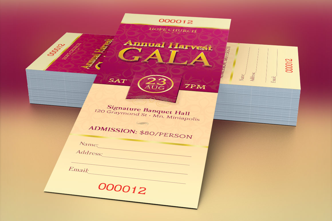 Church Banquet Ticket Template example image 3