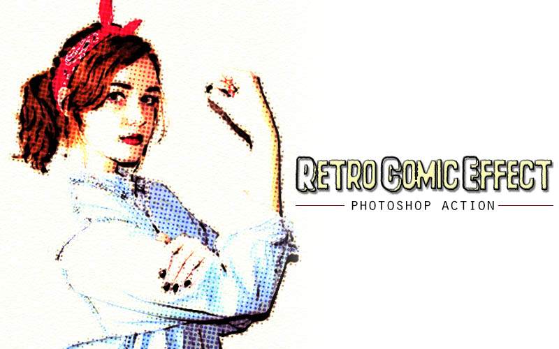 Retro Comic Photoshop Action example image 3