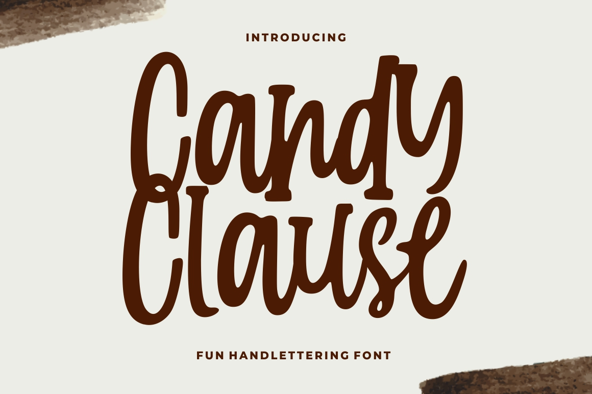 Candy Clause - Handdrawn Font example image 1