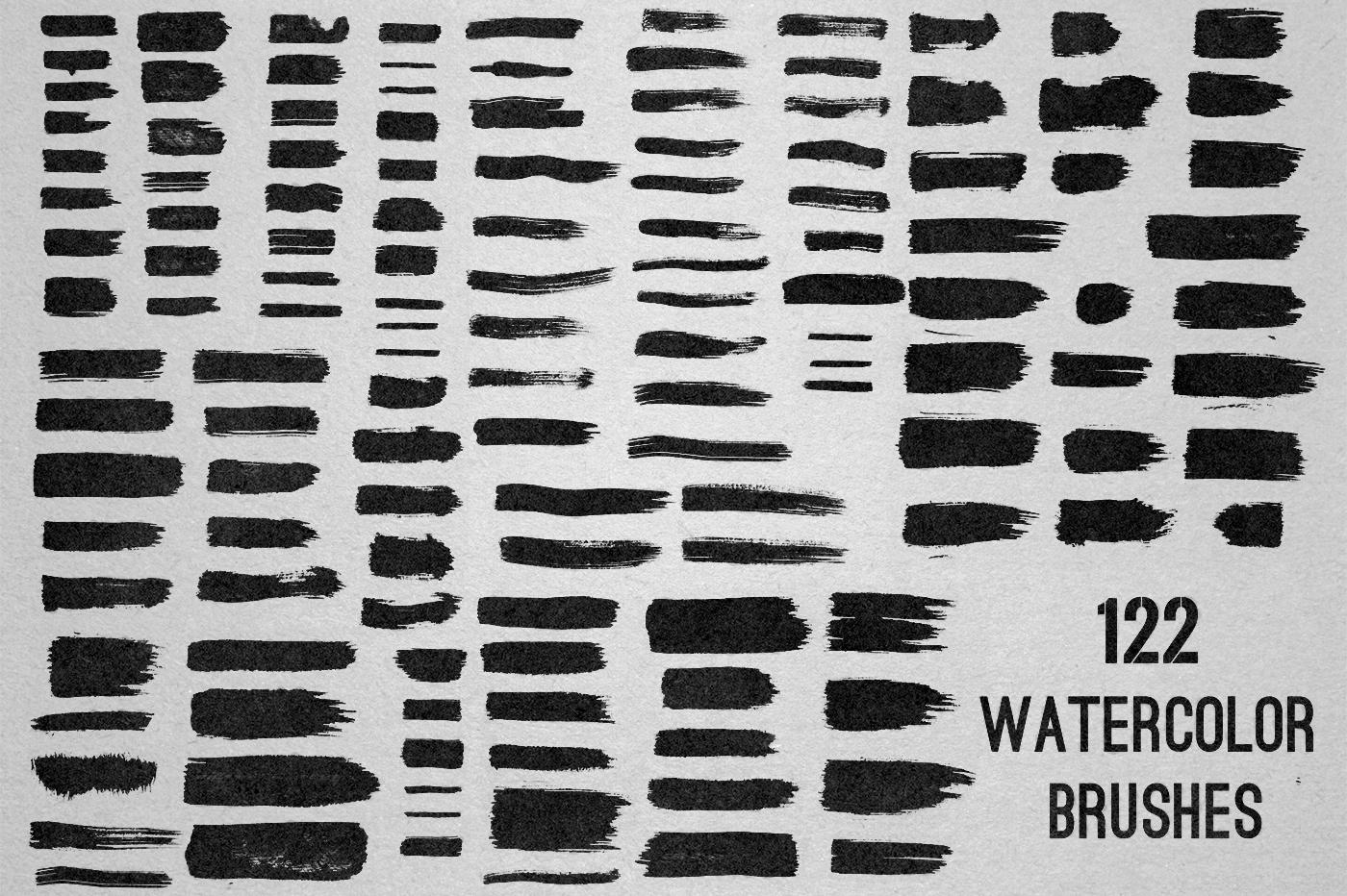 122 Watercolor Strokes example image 2