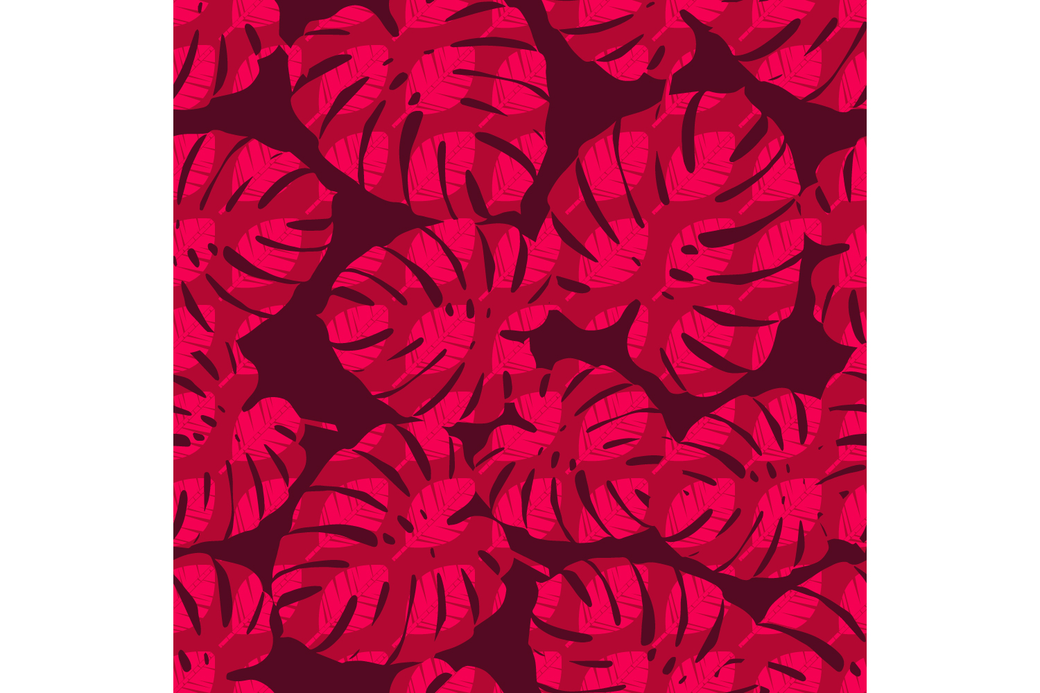 Tropical palm leaves. Set of 10 seamless patterns. example image 1