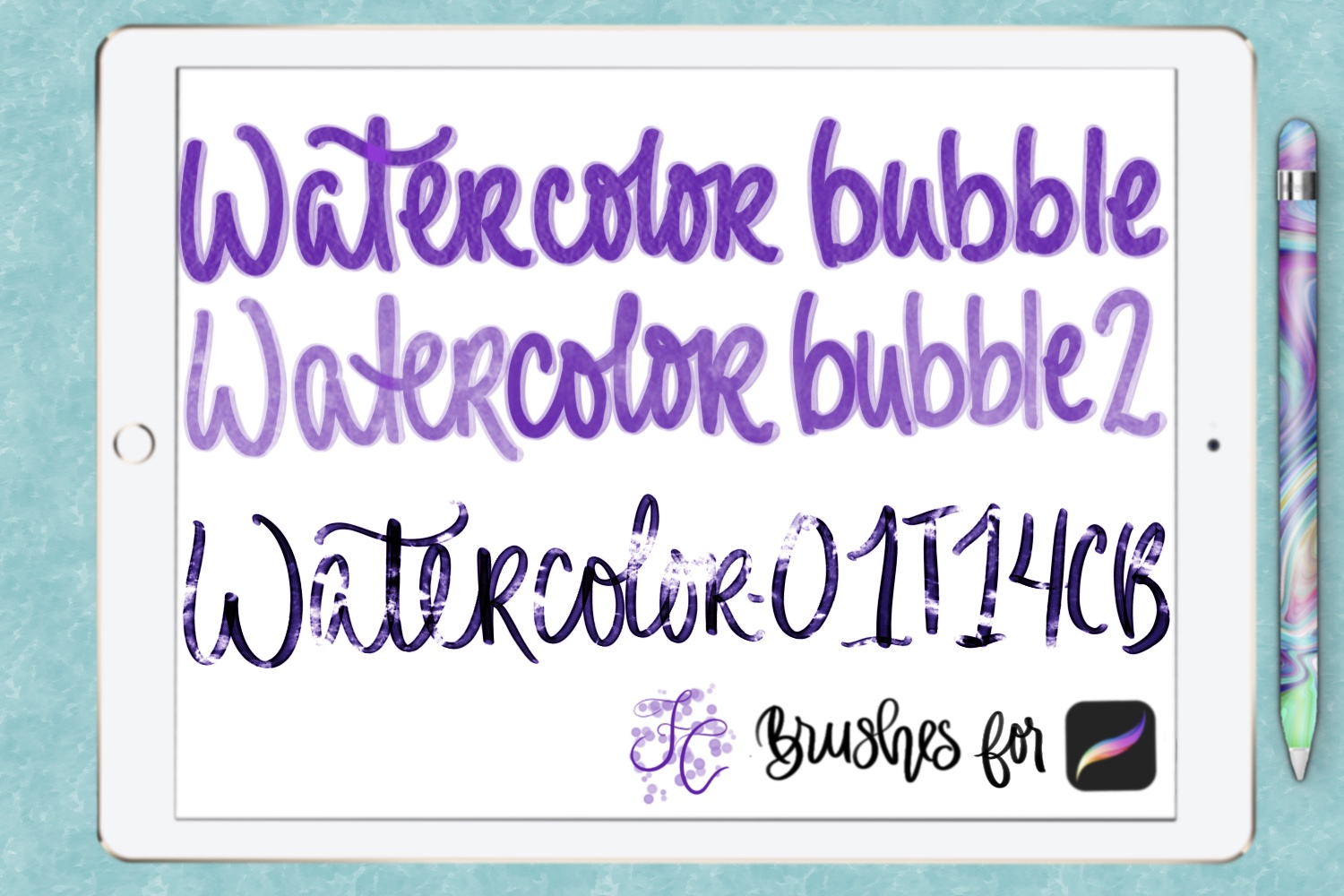 FC-Bubble-Glass & Water brushes for PROCREATE example image 3