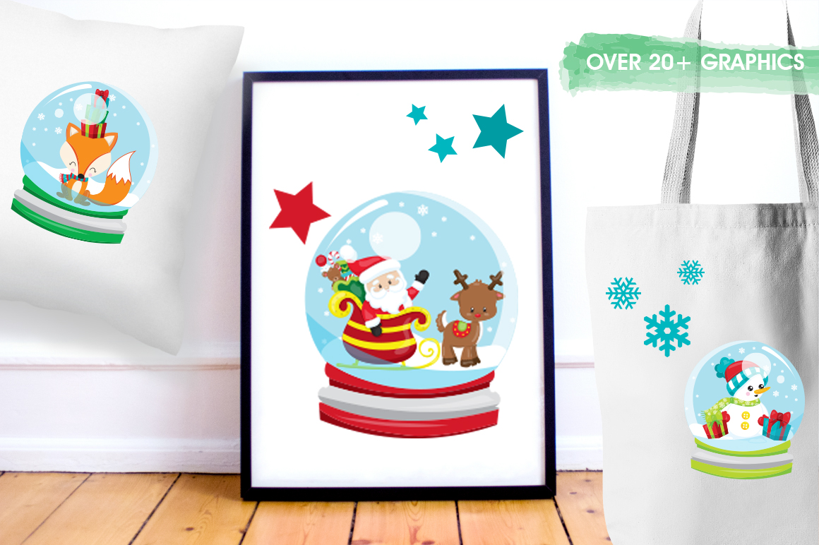 Christmas Globe graphic and illustrations example image 5