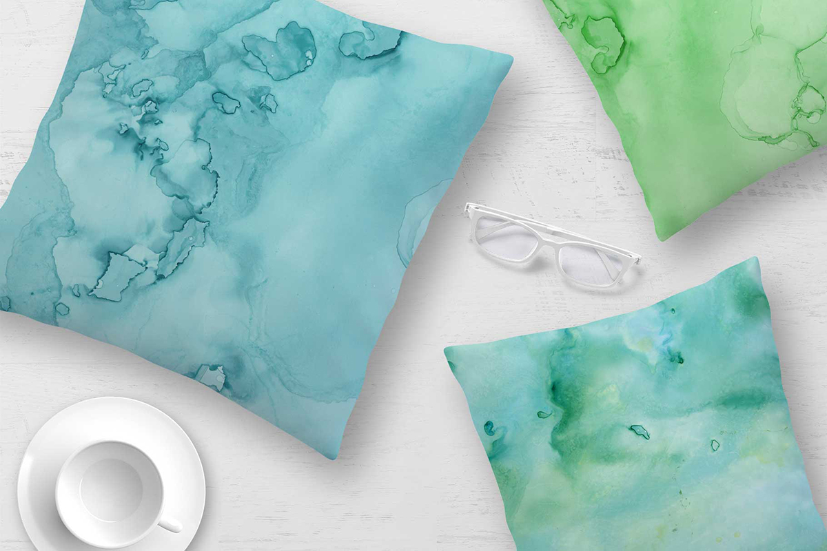7 Huge Seamless Green Alcohol Ink Textures example image 10