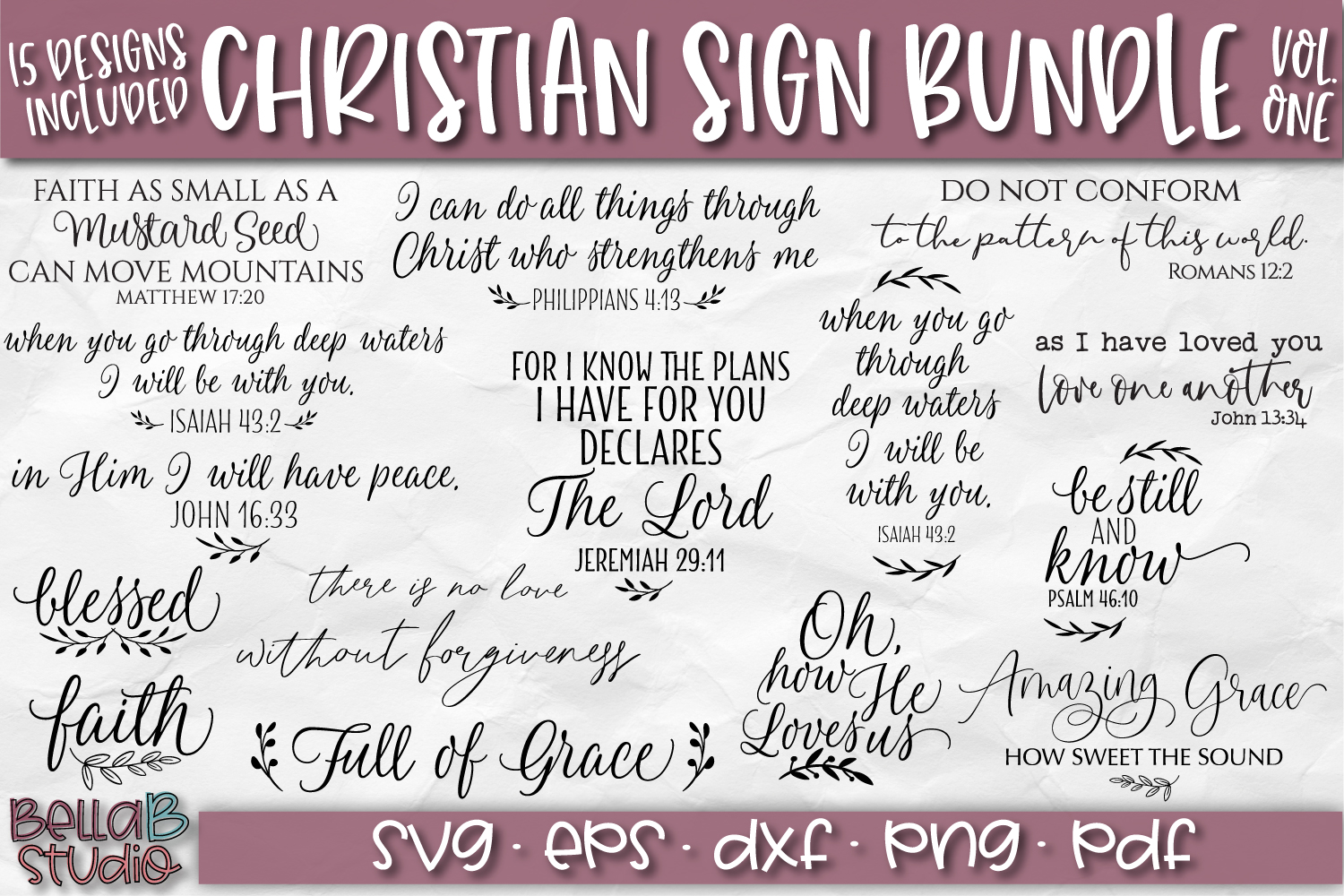 Christian Quotes SVG Bundle, Christian SVG Cut Files example image 1