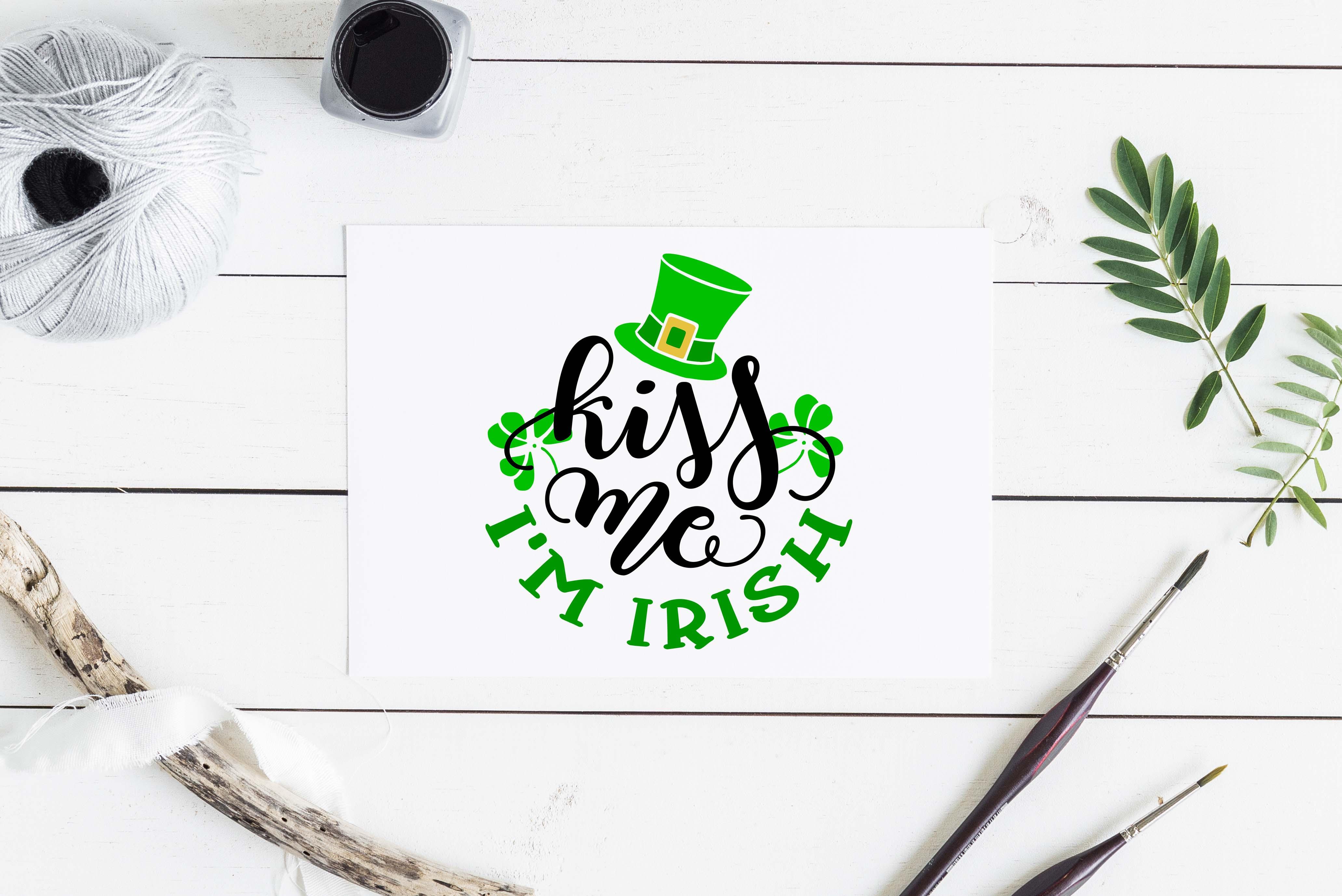 Kiss me I'm Irish SVG DXF PNG EPS example image 3