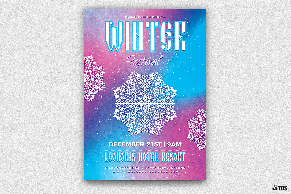 Winter Festival Flyer Template V1 example image 2