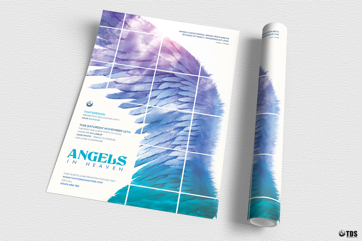 Angels in Heaven Flyer Template example image 4