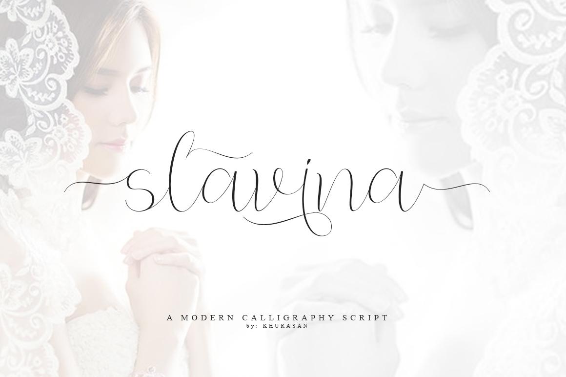 Slavina Script example image 1