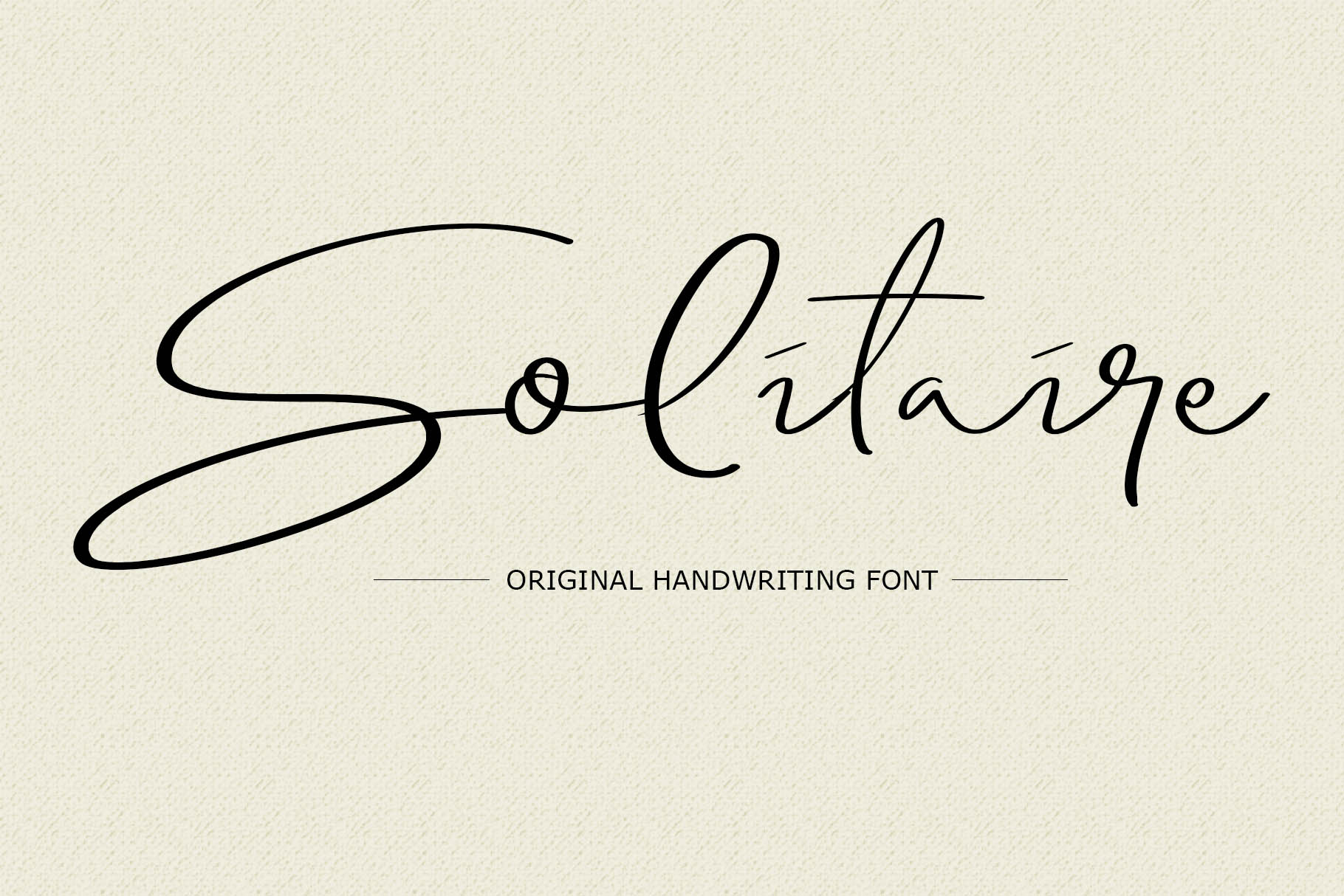 Solitaire Font example image 1