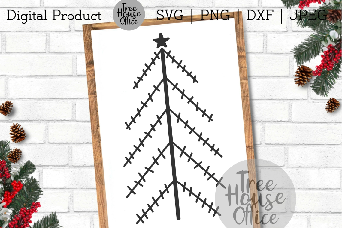 Primitive Christmas Trees, Simple Christmas SVG PNG DXF JPEG example image 4