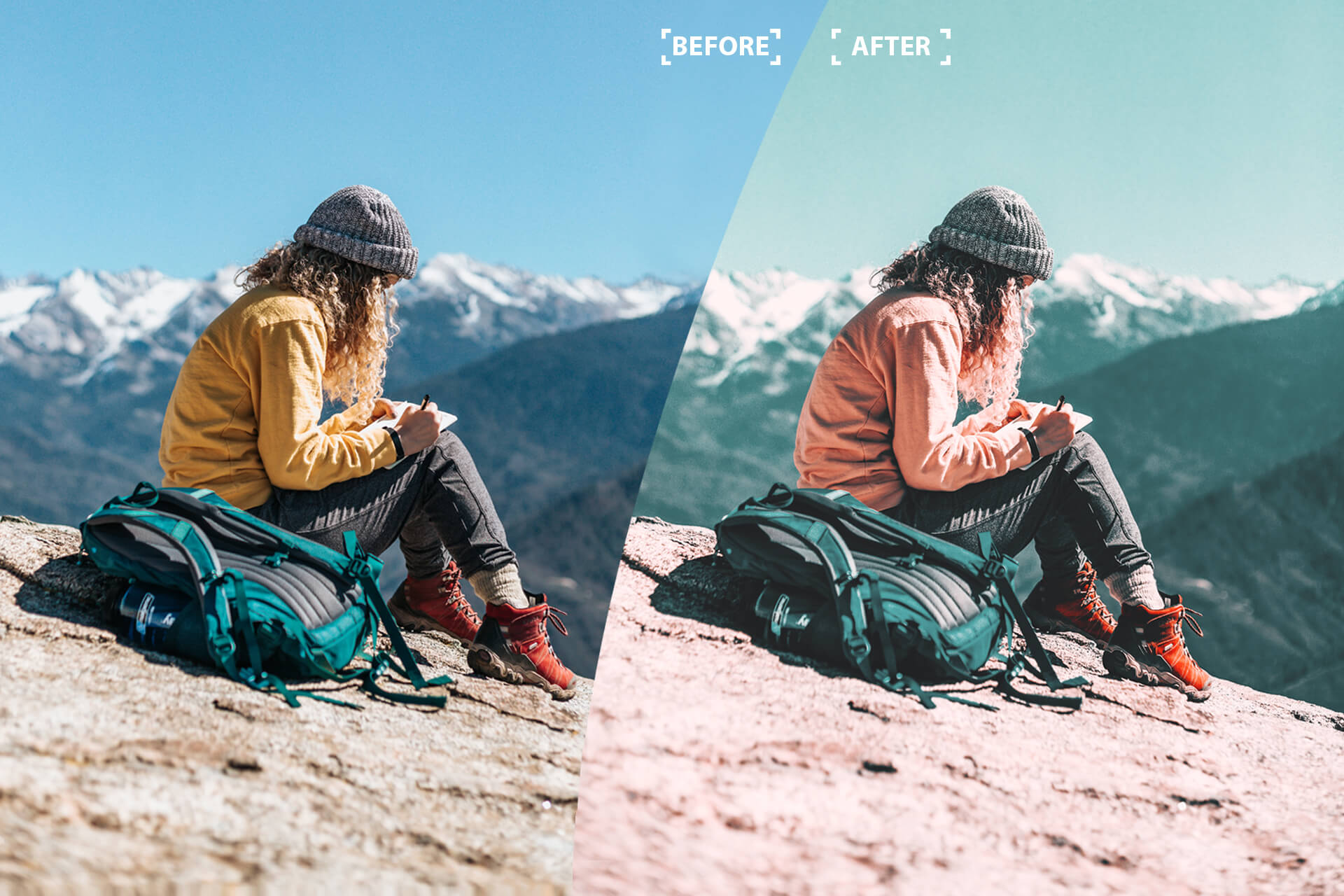 Cinematic color grading 05 Photoshop Actions example image 4