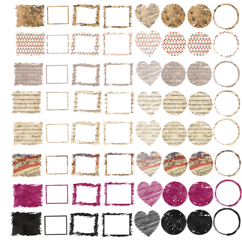 Backsplash Frames Bundle for Sublimation - 728 PNG Designs example image 10