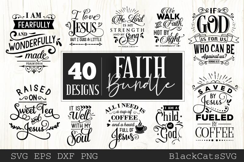 Faith SVG bundle 40 designs Christian SVG bundle example image 4
