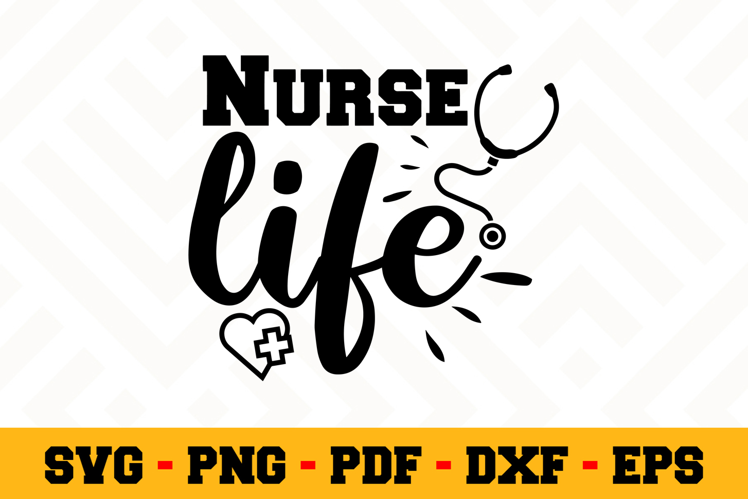 Nurse SVG Design n598 | Nurse SVG Cut File example image 1