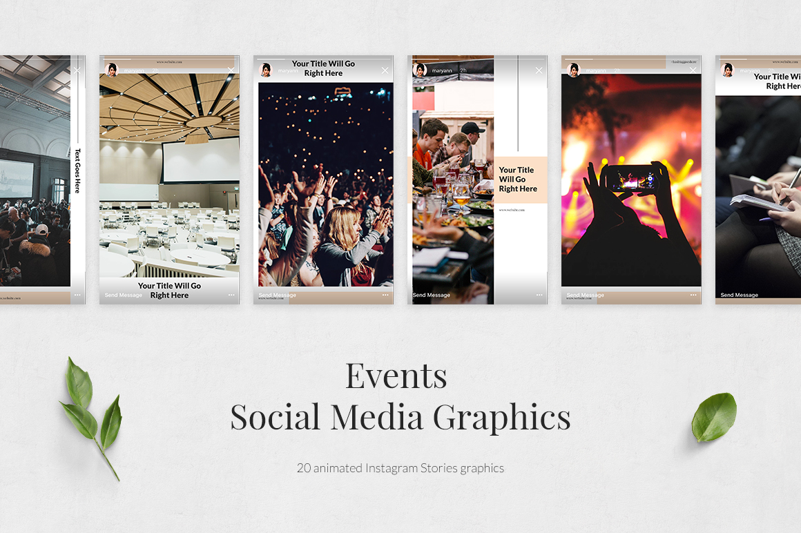 Events Animated Instagram Stories example image 2