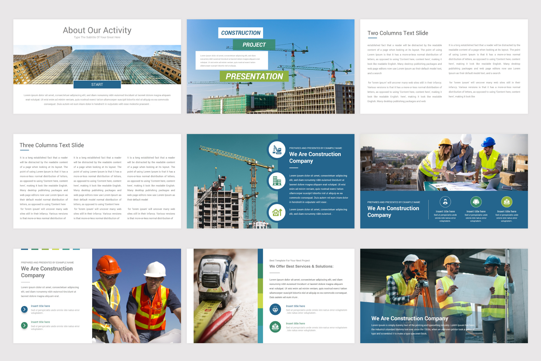 Construction Keynote Template example image 5