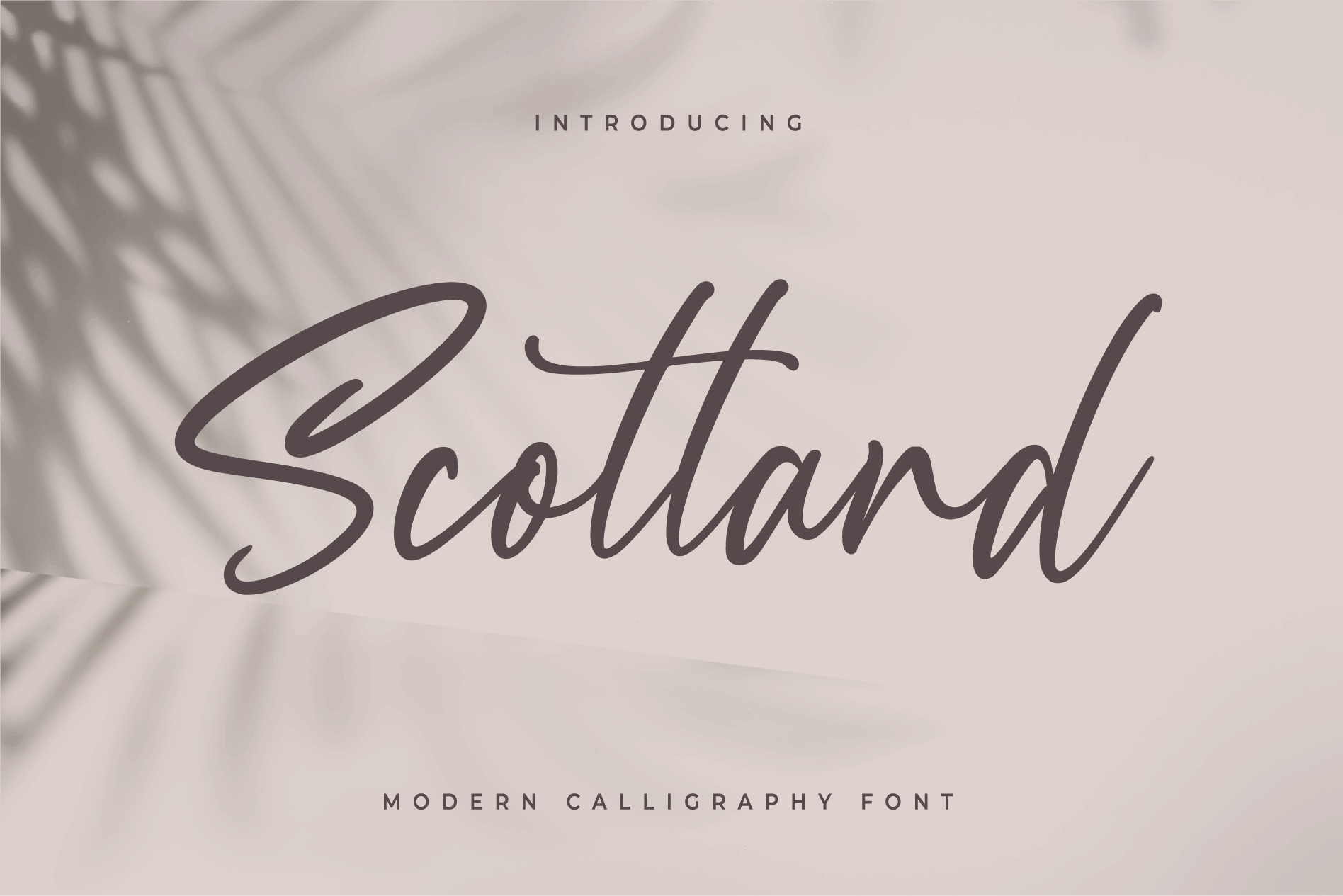 Scotland - Modern Calligraphy font example image 1