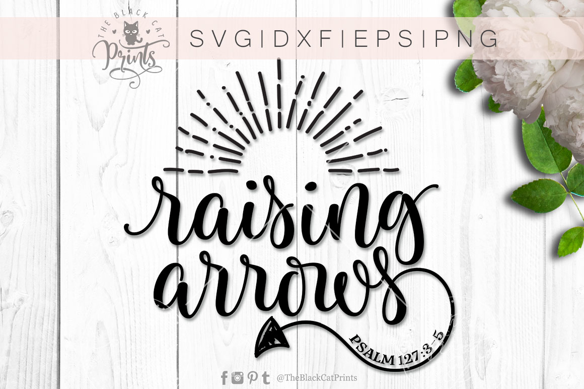 Raising Arrows SVG DXF PNG EPS example image 4