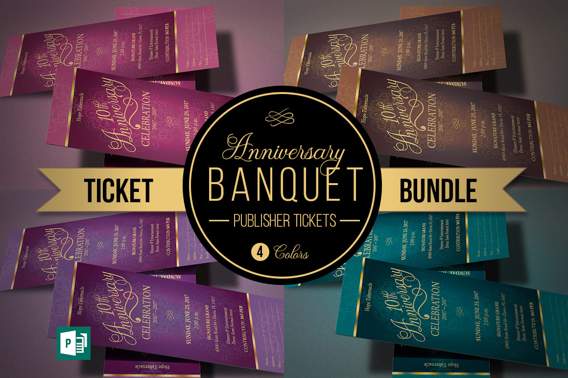Church Anniversary Publisher Ticket Bundle example image 1