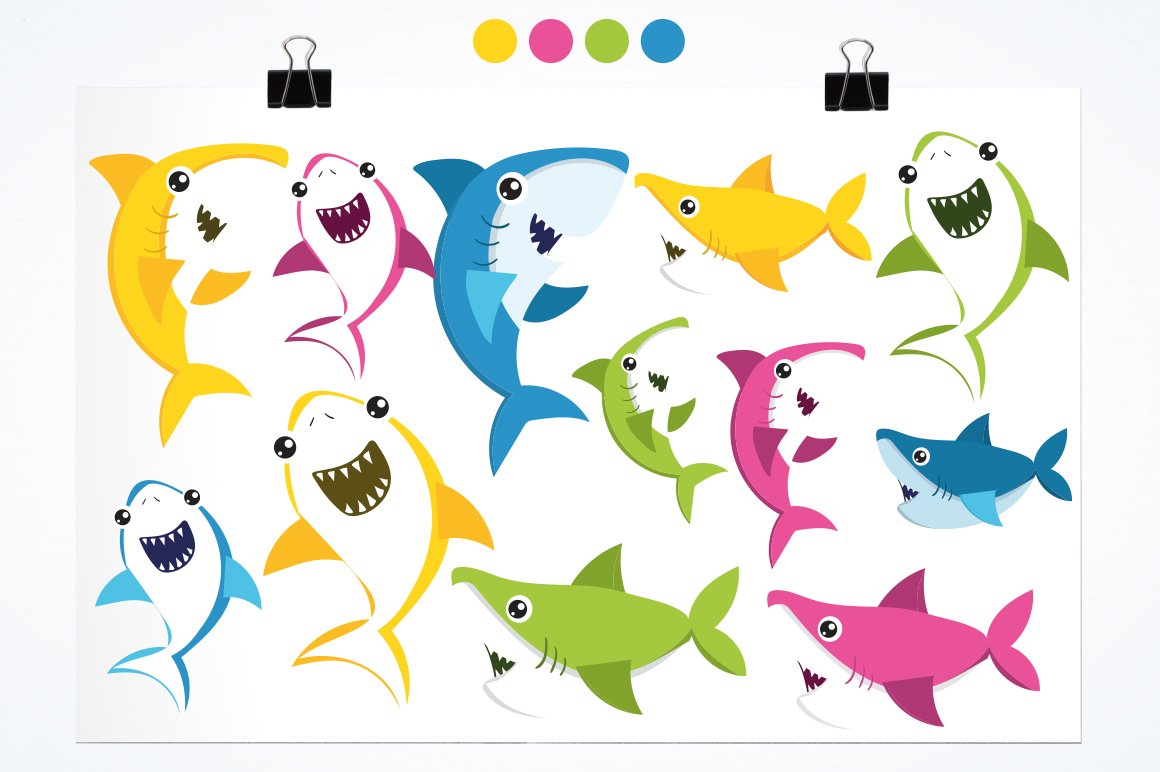 Baby Sharks graphic and illustrations example image 2