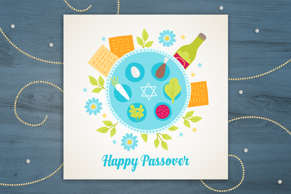 8 Passover Greeting Cards example image 8