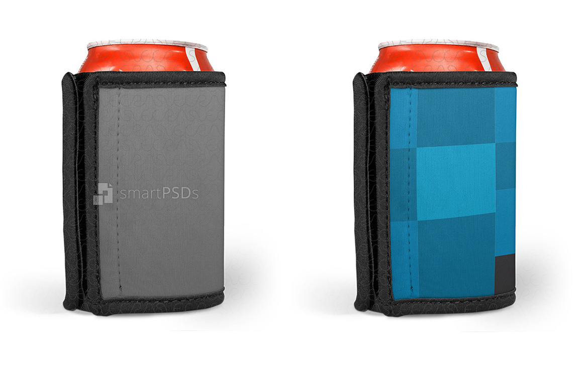 Can Cooler Wrap Design Mockup - 3 Views example image 3