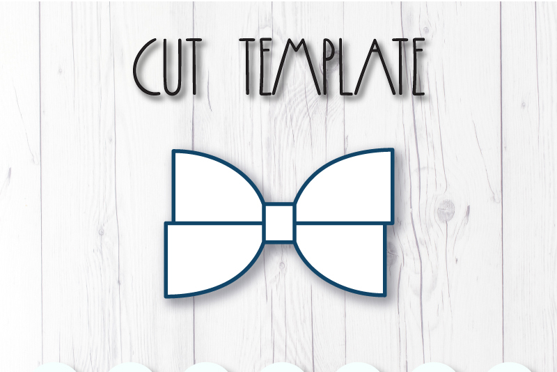 Hair bow template SVG, DIY leather bow template example image 2