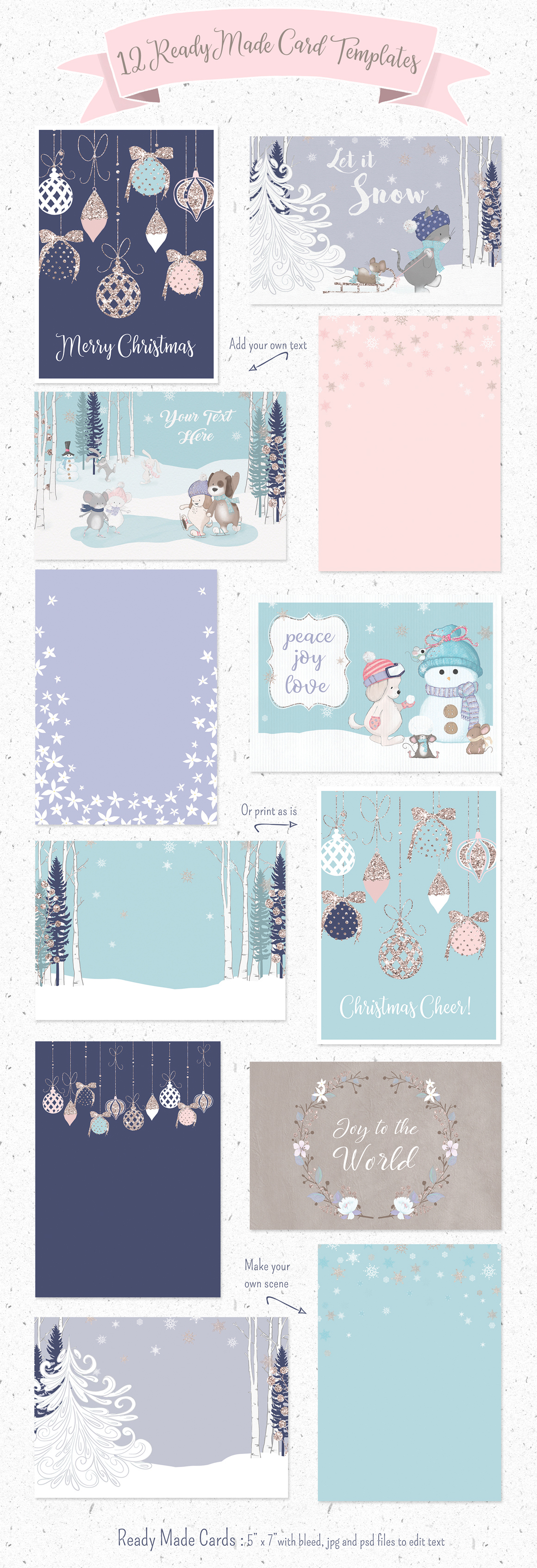 Winter Whimsy Clipart Collection example image 3