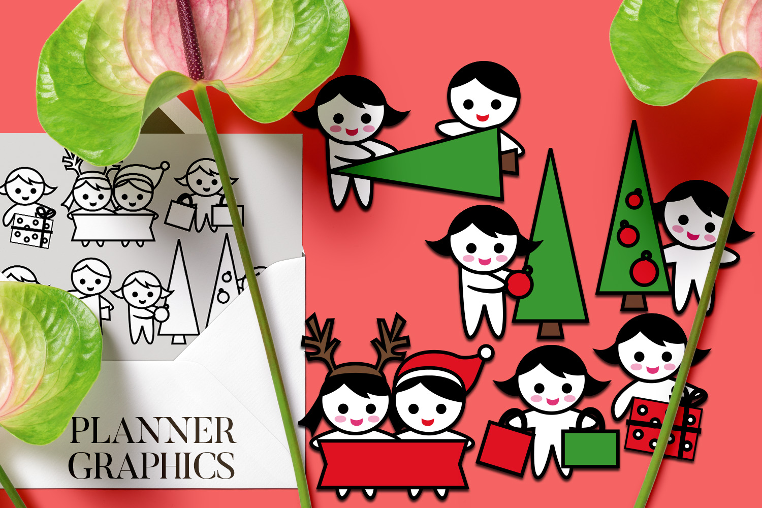 Holidays Bundle - Planner Graphic Illustrations example image 7