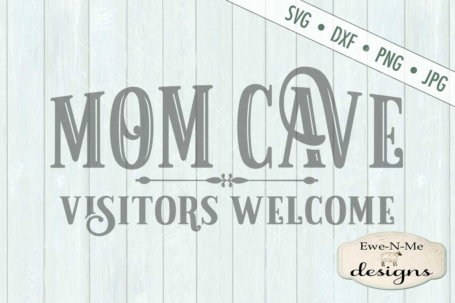Mom Cave Mother's Day SVG DXF Cut File example image 2