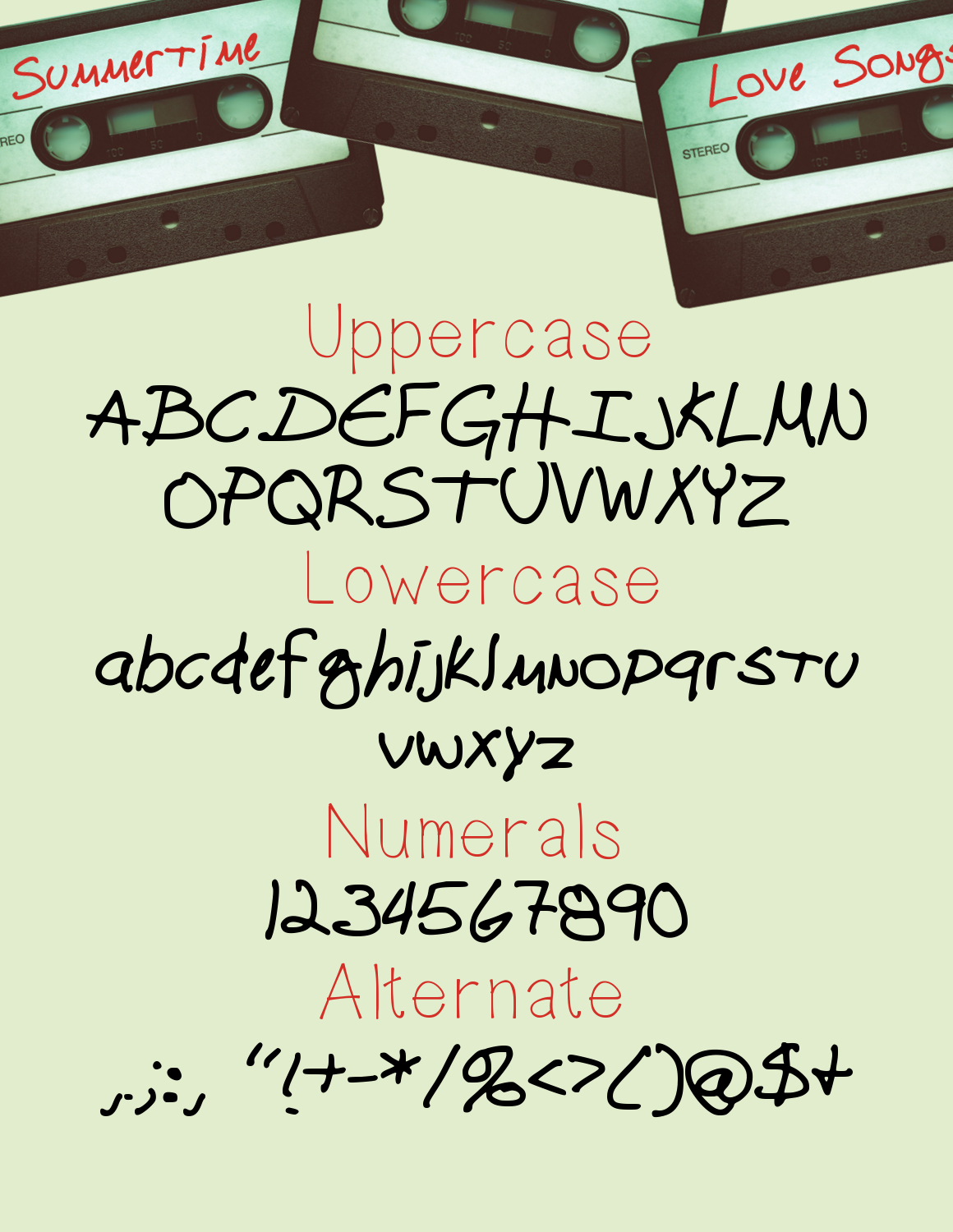 Cassette Tape a Funky Handwritten Font example image 2