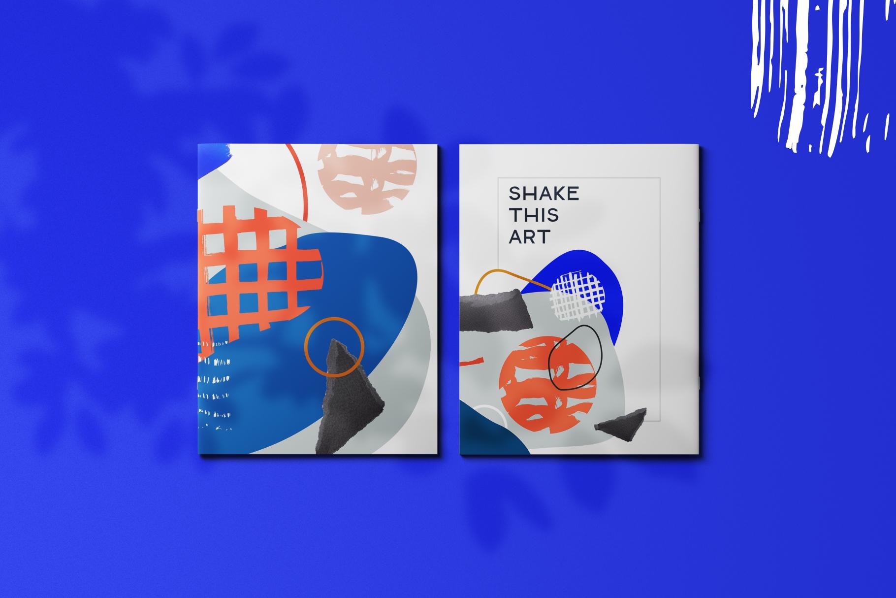 Shake this art! Collage pattern set. example image 4