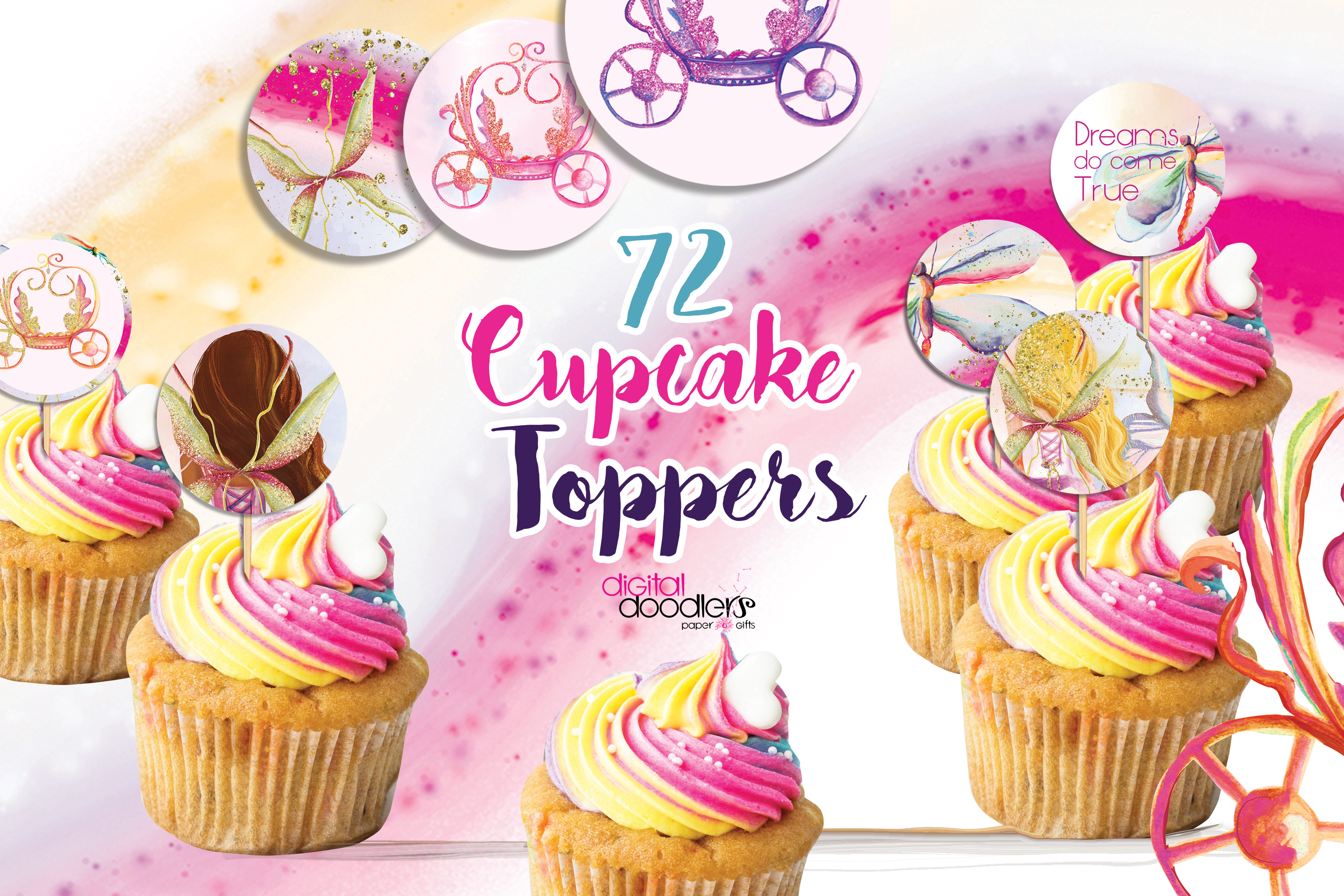 Fairy Tales Cup Cake Toppers example image 2