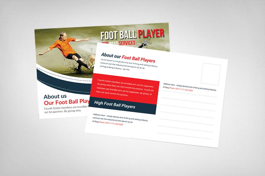 Football Player Postcard Template example image 2
