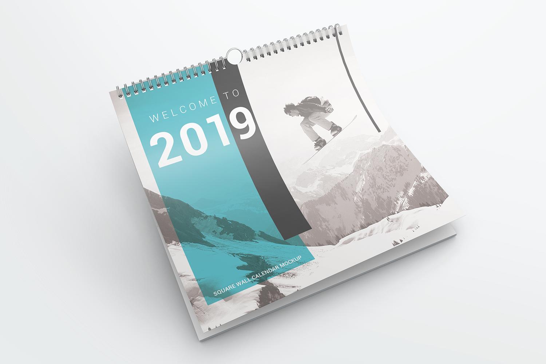 Square Wall Calendar Mockups example image 5