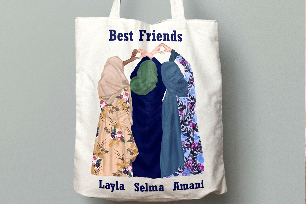 Muslim women clipart, Muslim Girls, Hijab clipart, Besties example image 4