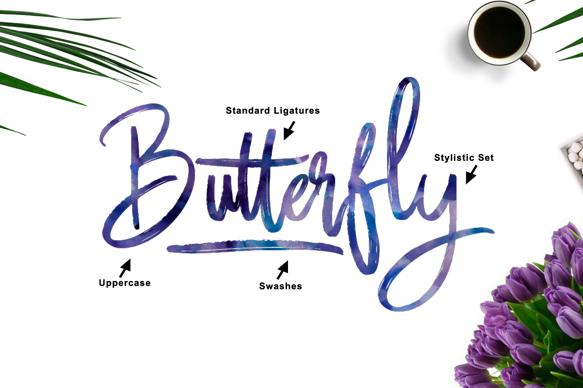 Butter Luchy - Handwritting Brush Font example image 4