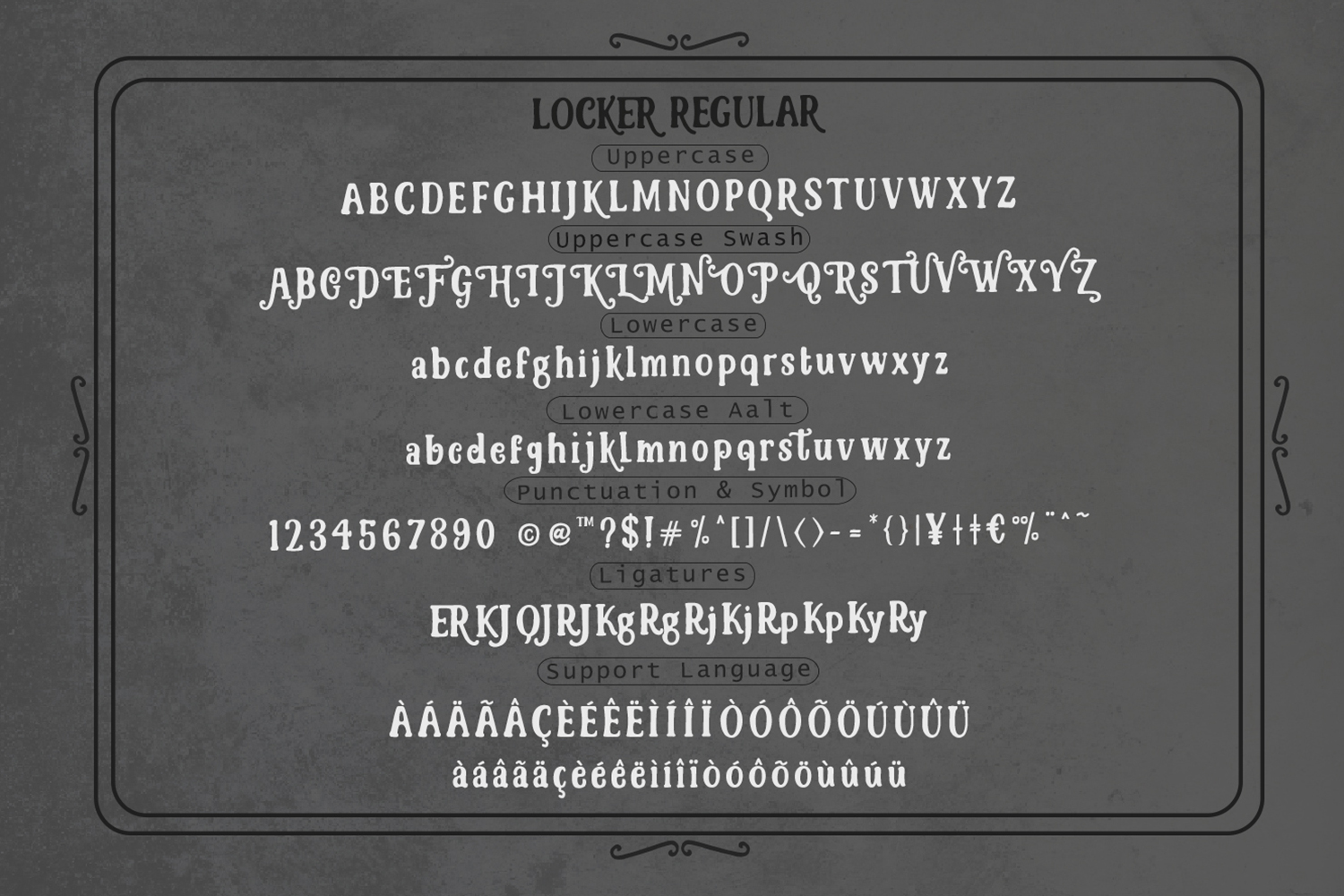 Lockers Font example image 8