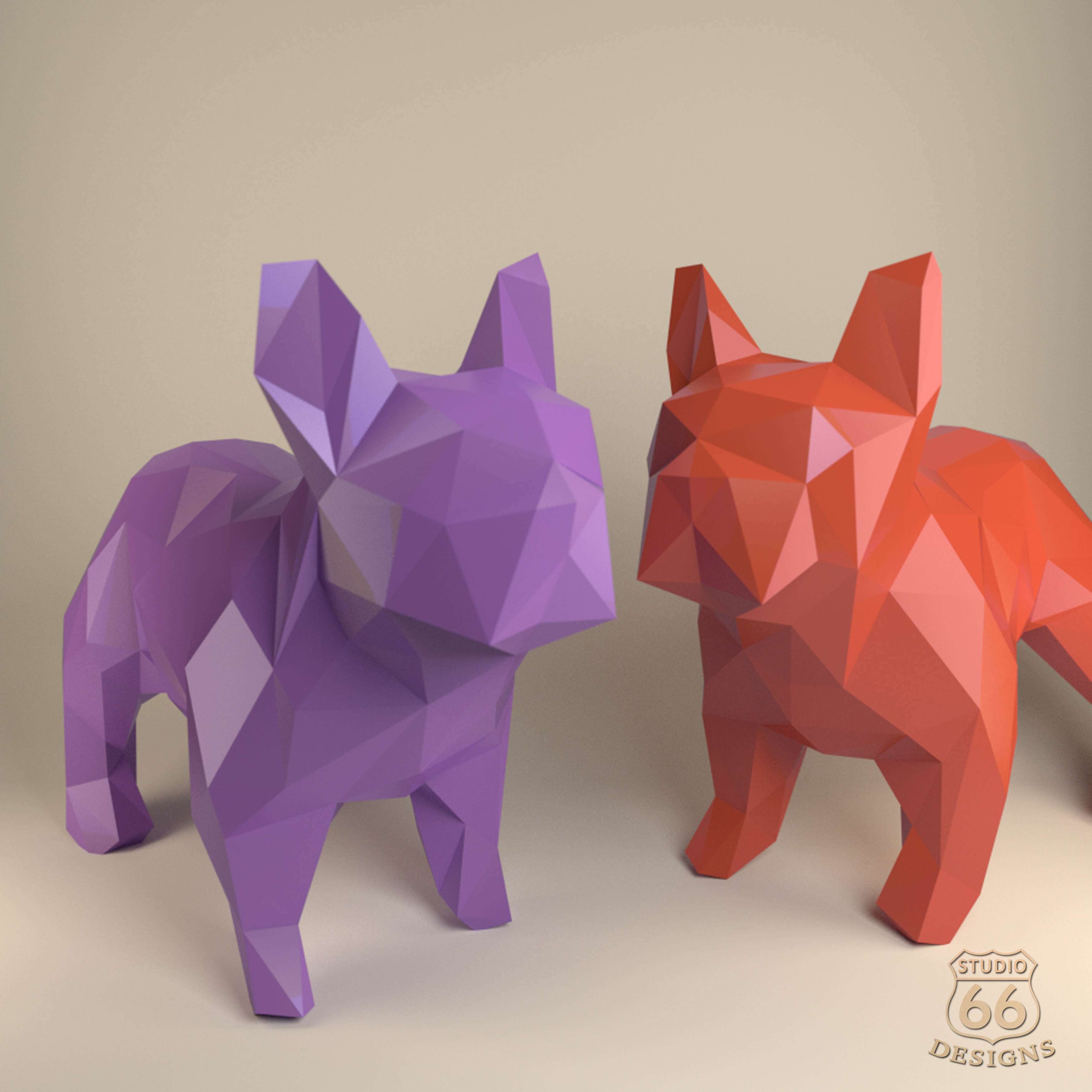French Bulldog Paper Dog Papercraft Bulldog Paper Animals Papertoy Home Decor Frenchie 3d Papercraft Model Lowpoly Diy Hobby Idea