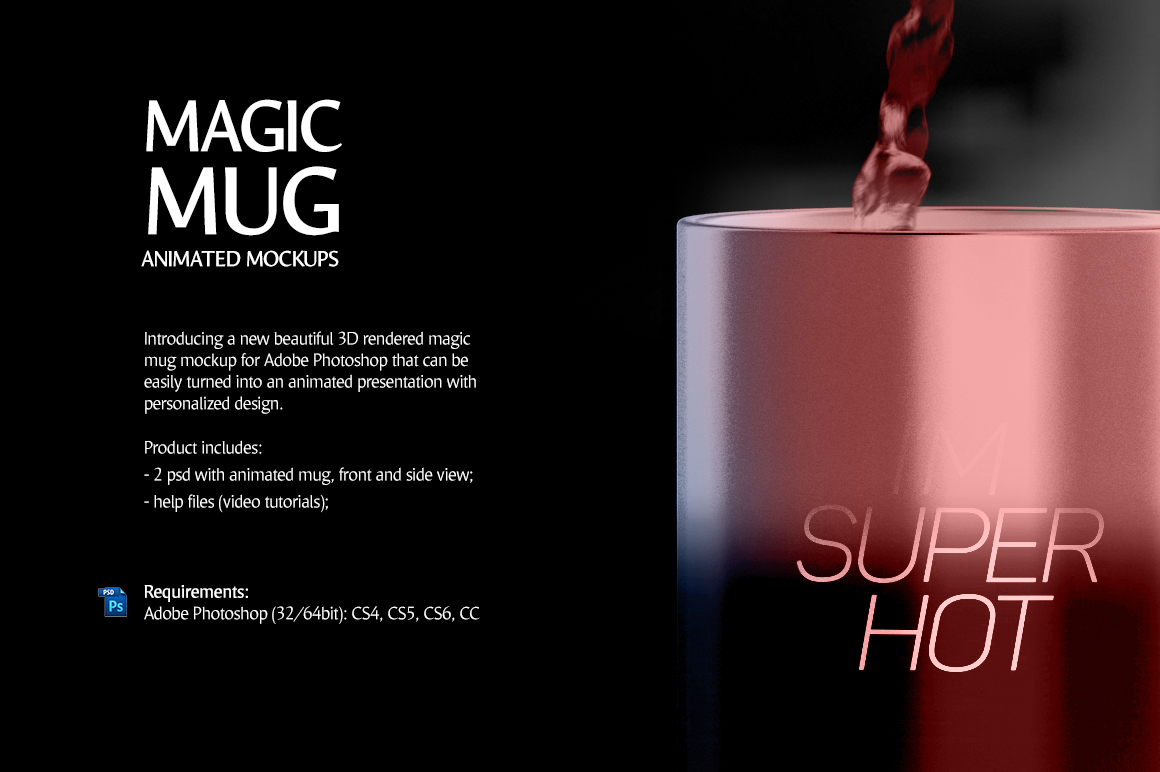 Magic Mug Animated Mock up example image 2
