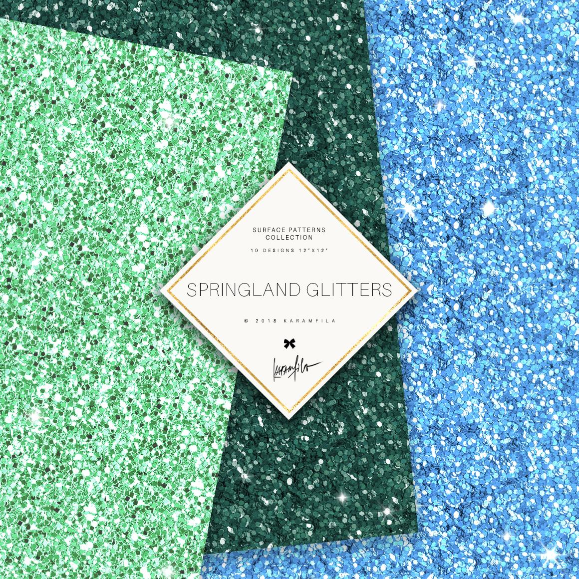 Karamfila's Springland Glitter Textures example image 3