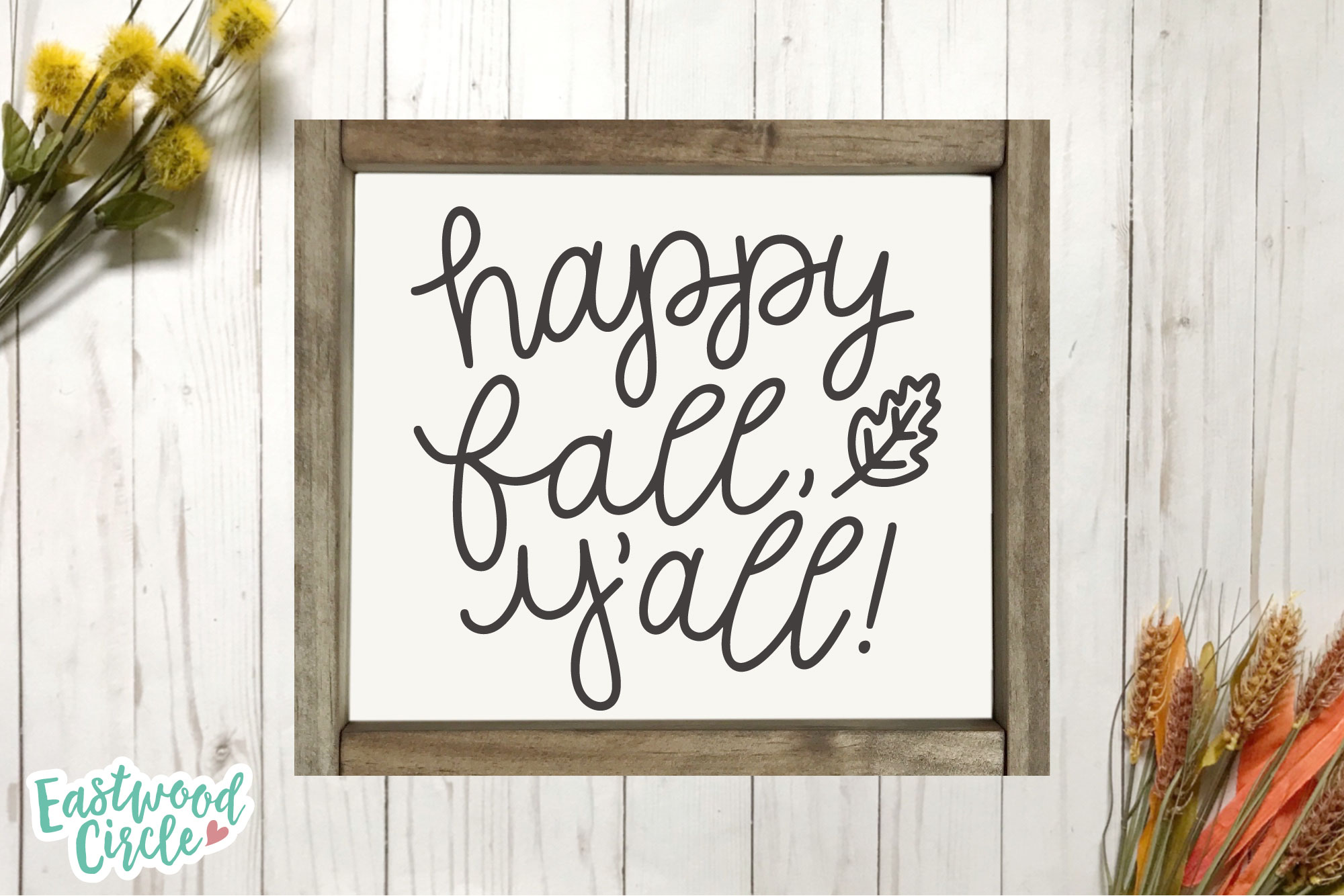 Happy Fall Y'all - Fall SVG for Crafters example image 2