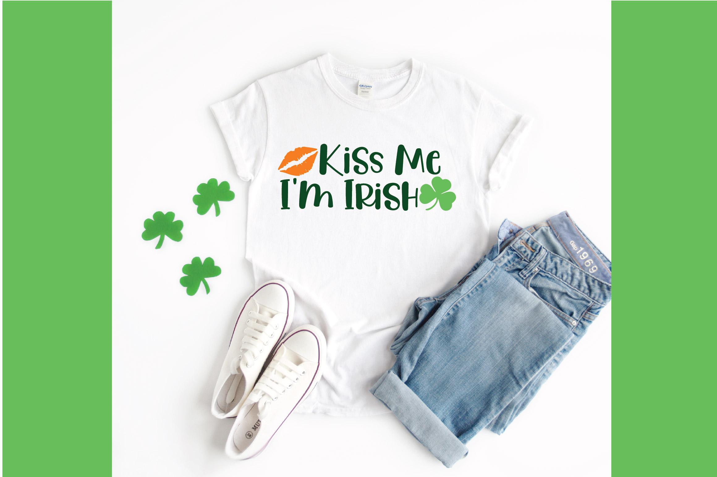 Kiss Me I'm Irish SVG Cut File - St. Patrick's Day SVG - DXF example image 2
