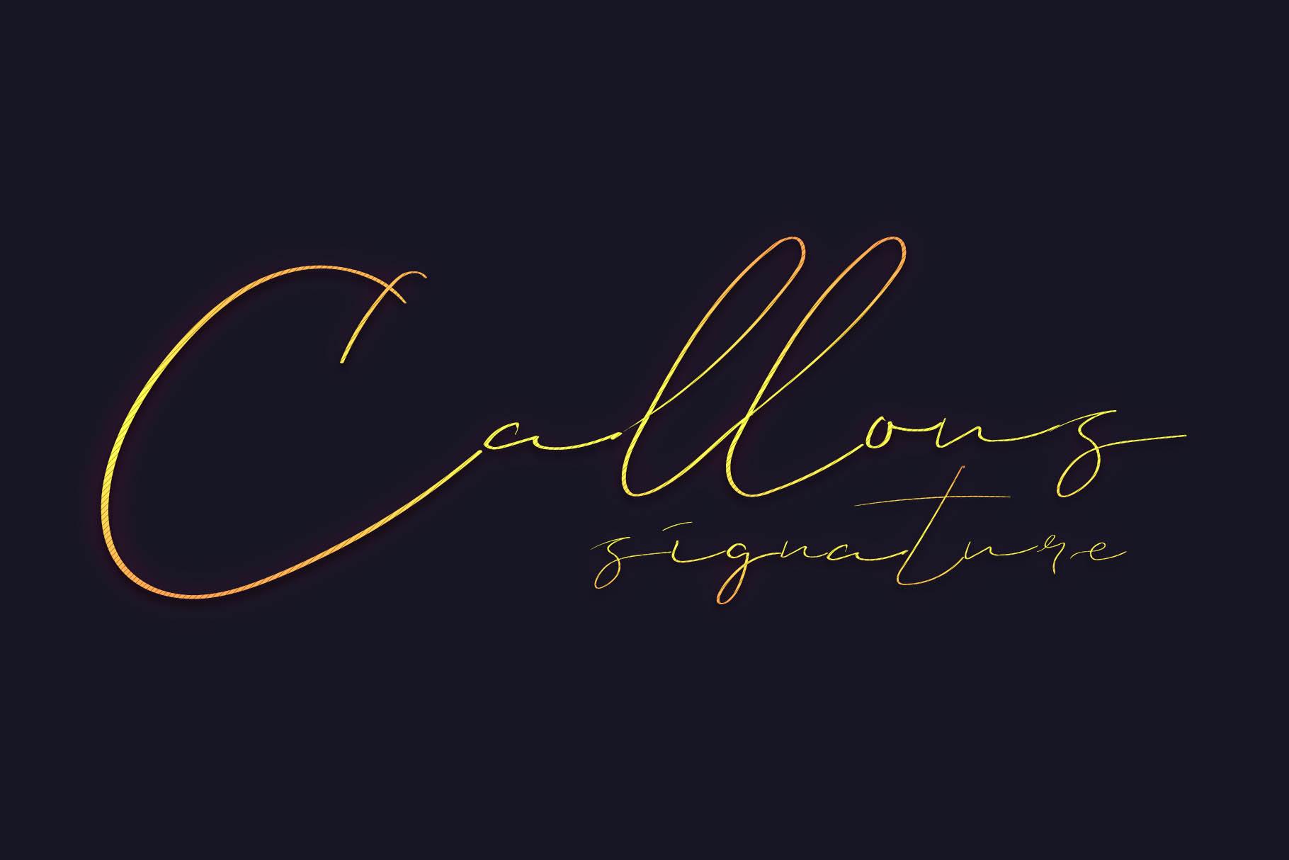 Callous Font example image 1