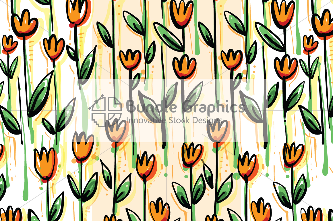 Vector Floral Pattern Pack example image 3